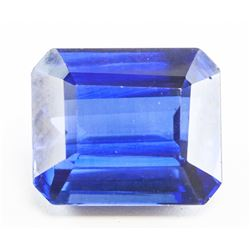 13.35ct Emerald Cut Blue Natural Sapphire GGL