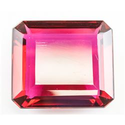 98.15ct Emerald Cut Pink Lab Tourmaline GGL