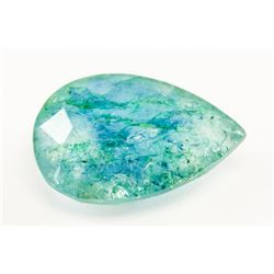 6.40ct Pear Cut Green Natural Emerald GGL