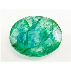 10.15ct Oval Cut Green Natural Emerald GGL
