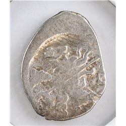 1533-1547 Russian Pskov Ivan IV Silver Kopeck Coin