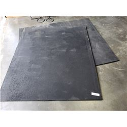 "2 weight lifting mats 48"" x 58"" x 5/8"" thick"