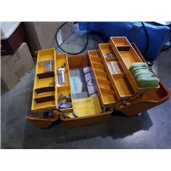 Fenwick tackle box with contents