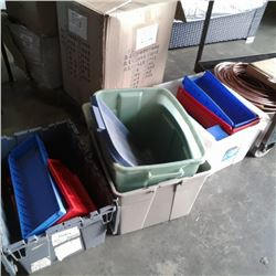 Lot of totes and parts bins