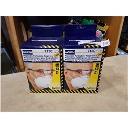 2 BOXES OF NORTH DISPOSABLE PARTICULATE RESPIRATORS N95