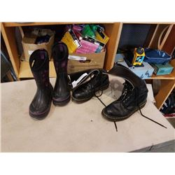 SIZE 7 ORIGINAL DOC MARTIN BOOTS AND OTHER RAIN BOOTS