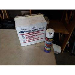 BOX OF SURVEY MARKING PAINT AERVOE AEROSOL
