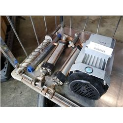 Electric motor, large drill bits and pneumatic cylinders