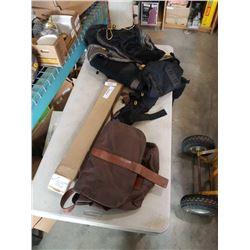 North 49 backpack, messenger bags and towel rack handle