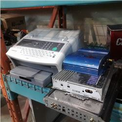 Panasonic printer and 3 car audio amps