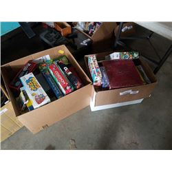 2 BOXES OF PUZZLES AND BOARD GAMES