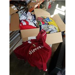 2 BOXES OF SPORTS JERSEYS