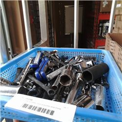 Tray of new sockets, box wreches and more
