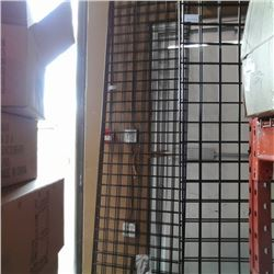 3 sections of 2ft x 8ft gridwall with roller attachments