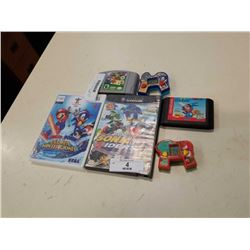 SEGA AND NINTENDO GAMES - MARIO 64, SONIC RIDERS, BONKERS AND HAND HELD GAMES