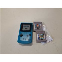 Gameboy color and 2 games