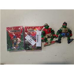 TMNT FIGURES AND CARD SETS