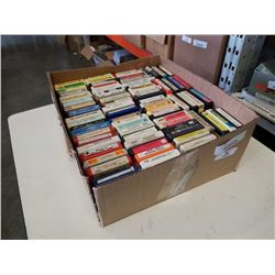 BOX OF 8TRACK TAPES
