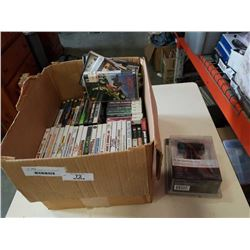 BOX OF VIDEOGAMES, WII, PS2, NINTENDO DS, PSP