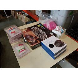 Lot of serving dish, dash phone mount bases, phone cases and more