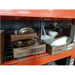 2 TRAYS OF SILVER PLATE, ELECTRIFIED OIL LAMP AND NORTHERN MIST NORTHUMBRIA