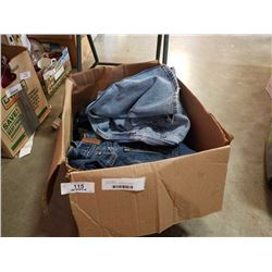 BOX OF JEANS - MENS SIZE 32-34 AND WOMENS 13