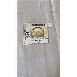 1960 CANADIAN SILVER DOLLAR - NEAR MINT .800 SILVER