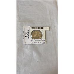 1952 CANADIAN SILVER DOLLAR - NEAR MIND .800 SILVER