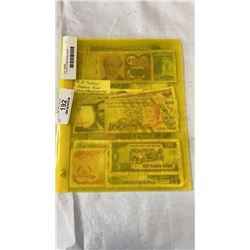 21 WORLD FOREIGN BILLS MANY DIFFERENT COUNTRIES