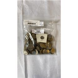 OVER 200 FOREIGN COINS DATES FROM 1930S UP MANY DIFFERNT COUNTRIES