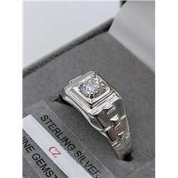 STERLING SILVER CZ COCKTAIL RING -  RETAIL $75