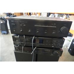 Sony, Philips and Yamaha stereo components with sub and 2 floor speakers
