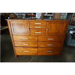 9 DRAWER WOOD DRESSER