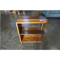 WOOD 3 TIER OPEN SHELF