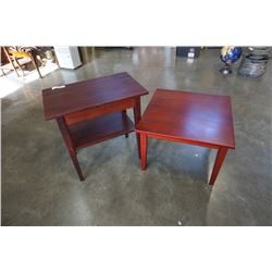 2 WOOD ENDTABLES