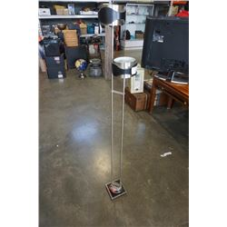DOUBLE FLOOR LAMP BRUSHED METAL