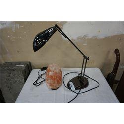 SALT ROCK LAMP AND DESK LAMP