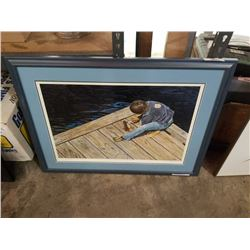 """L. GIBBS LIMITED EDITION PRINT """"CLEANING FISH"""""""