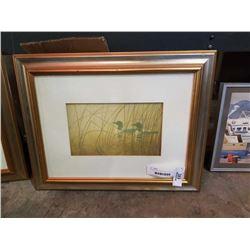 Framed unsigned Robert Bateman loon print