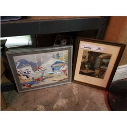 WATERCOLOR BY HENRIE AND SIGNED PAINTING