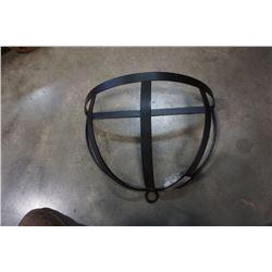 Metal kitchen pot hanger with hooks