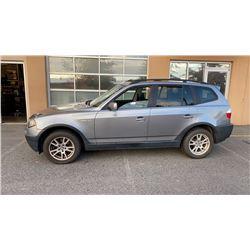 2006 BMW X3 ALL WHEEL DRIVE SUV, 2.5i, 211,000km, runs and drives well, 2 keys, books