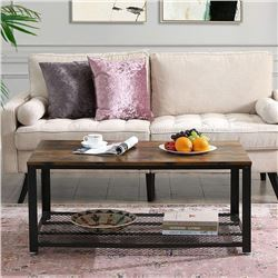 """BRAND NEW MODERN INDUSTRIAL STYLE COFFEE TABLE - RETAIL $199.99  24"""" x 42"""" x 18"""""""