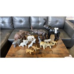 LARGE ELEPHANT FIGURE COLLECTION