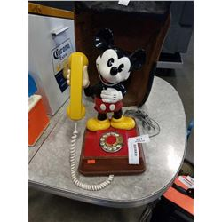 VINTAGE MICKEY MOUSE PHONE 1976