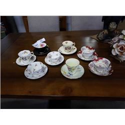 LOT OF 8 ANTIQUE CUP AND SAUCERS