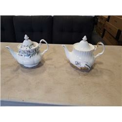 2 ROYAL ALBERT TEAPOTS