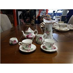 SHELLY ANN MADE IN ENGLAND MINIATURE TEASET AND LIMOGE PITCHER