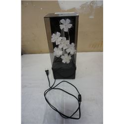 Fibre optic flower lamp