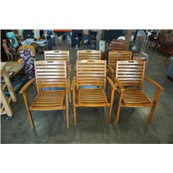 6 PLANTATION TEAK SMARTWOOD PRODUCTS AUSTRALIA CHAIRS